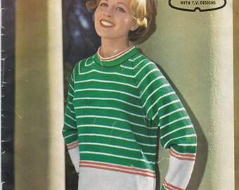 Paton's Knitting Pattern No 578 For Women/Ladies in Totem Knitting Wool   (Vintage 1950s)