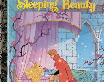 Walt Disney's Sleeping Beauty Vintage Little Golden Book Illustrated by Ron Dias 1993