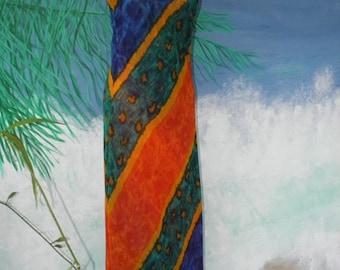 HUGE 60% OFF Multi Color Long Vintage Maxi Bias Cut Dress,  Slinky, Spaghetti Strap, Gown, Maxi, sz S