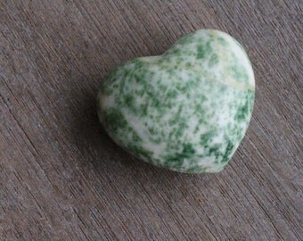 Tree Agate Large Puffy Heart #43574