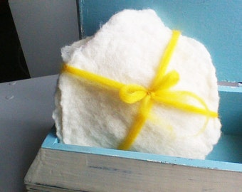 Merino Wool Nursing Pads, 2 pairs of pads, Felt Wool Nurse Pads, Breastfeeding Mom, Organic Pads, Ecofriendly, Vegan,