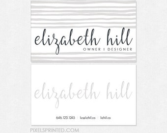 simple DELUXE business cards - minimal business cards - full color both sides - FREE UPS ground shipping