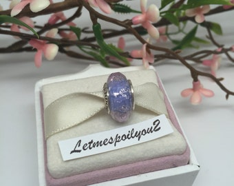 Authentic Pandora Purple shimmer murano charm