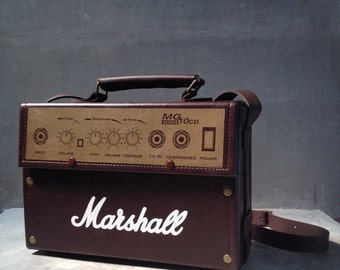 Hand made  Marshall guitar amp retro doctor bag