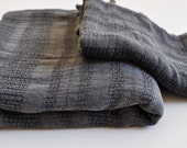 Set of 2 Turkish Towel Peshtemal towel and hand towel Stone washed  Dark Grey soft