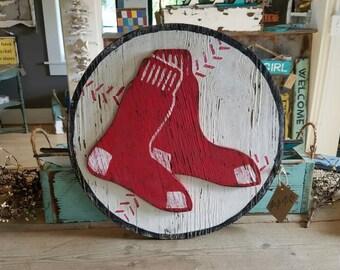 Vintage-style Redsox Sign - Boston sports decor