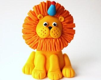 Fondant Lion Cake Topper - Deluxe fondant lion topper - Lion Cake Topper - Lion Fondant - Edible Lion Topper - Jungle Fondant - Jungle