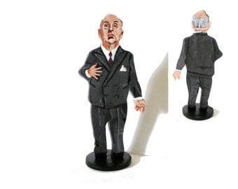 Alfred Hitchcock Hand Painted 2D Art Figurine