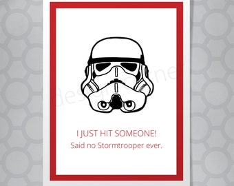 Funny Illustrated Stormtrooper Birthday Card