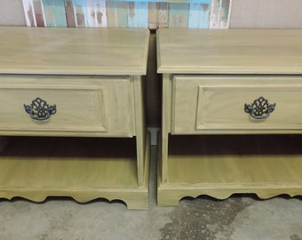 2 End Tables distressed chalk paint