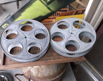 Pair of Vintage 35mm Film Reels By Goldberg Brothers Denver, Colorado