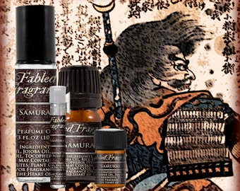 SAMURAI Cologne: Japanese Warrior, Earthy Ginseng, Dragons Blood, Dark Patchouli, Vegan Solid Perfume, Ships Out in 4-7 Days