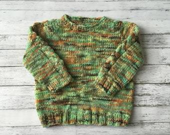 hand knit toddler sweater 18-24 months