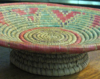 Collectible Vintage Native American Style Woven Basket-Teepee-