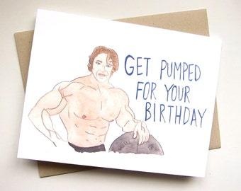 Arnold Schwarzenegger Card // Funny Birthday // Weightlifting