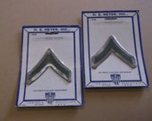Vintage 1963 N.S. Meyer,Inc. Private 1st.Class Insignia Patch,Still Sealed,2 Pair