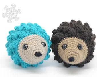 Brown Hedgehog Stuffed Animal, Hand Crocheted Hedgie, Simple Toy