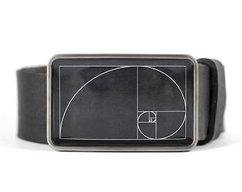 Golden Ratio Belt Buckle, Fibonacci Belt Buckle, Math Gift, Science Gift Engineer Gift Architect Gift Geek Belt Buckle Men's belt buckle