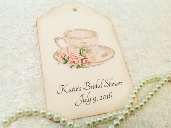 Tea Party Gift And Favor Tags Wedding Favor Tags Teacup Bridal