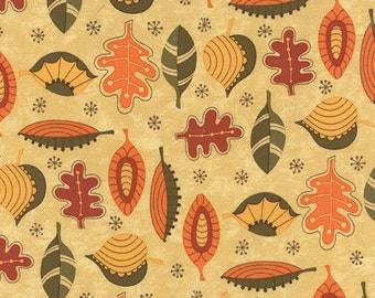 Hello Fall Leaves by Sandy Gervais for Moda - One Yard - 17782 11