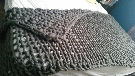 Big Knitting With Arms : Large arm knit blanket x