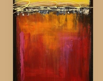 """Modern, Abstract, Industrial,Art & Collectibles Painting Acrylic Abstract Art on Canvas by Ora Birenbaum Titled: Music In My Soul 30x40x1.5"""""""