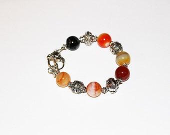 Orange Agate Bracelet