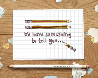 We have something to tell you - Baby Announcement card, Pregnancy Announcement card, Funny Pregnancy Card, Card for Grandparents