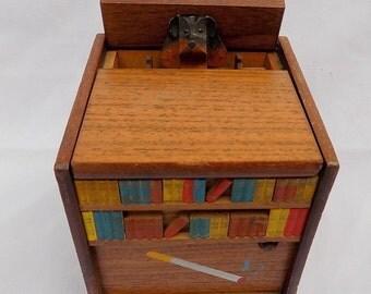 Vintage Music Box Motion Cigarette Dispenser