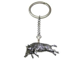 Running Razerback Wild Boar Pendant Keychain