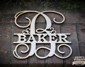 Personalized Family Sign Family Name Sign Monogram Name Sign Wreath Sign Wedding Gift Housewarming Gift Christmas Gift