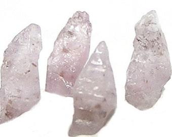 4 Tiny Pink Sapphire Crystals Natural Genuine Gemstone, Corundum Gem Garden, Natural Raw Petite Precious Jewels, Chinese Medicine crystals