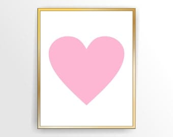Girl Printable nursery art Heart,Printable, DIY,  INSTANT DOWNLOAD ( 001H )