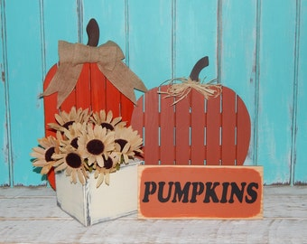 Pumpkins Sign Autumn Fall Decor Country Rustic Decor Signs Fall Decorating