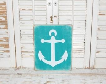 Anchor Sign Nautical Decor Coastal Beach Cottage Signs