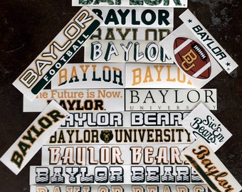 5 Pack Baylor Decal Mystery Bundle