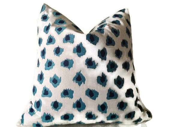 leopard PillowPolka Dot Pillow Cover Turquoise Pillow