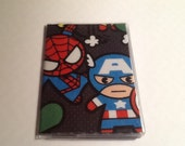 Avengers Kawaii Mini Wallet Business Card Holder Credit Gift Card Tube Metro Bus Vinyl Protector Cruise ID Travel Accessory Geek Techie Gift