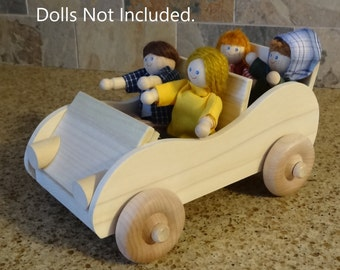 Wooden Dollhouse Car HandCrafted!