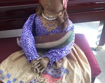 Black Americana Doll Grocery Bag Holder