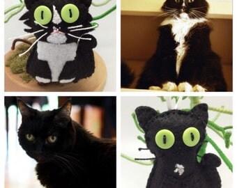 Custom Pet ornament, custom made ornament cat in felt, custom felt cat, personalized gift, cat memorial ornament, cat keepsakes decor