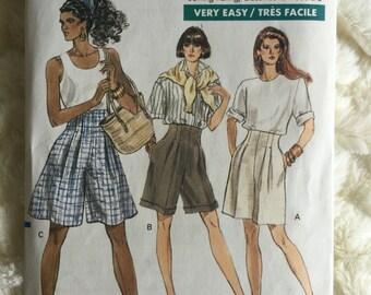 Vogue Womens High Waist Shorts Sewing Pattern 7450 Size 12 14 16 UC FF Uncut