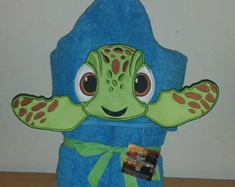 3D Turtle Hooded Towel