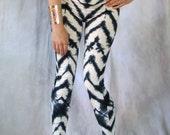 Tie Dye Leggings Hand Dyed Shibori  womens pants printed girls yoga leggings eco friendly tights coachella
