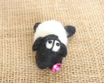 Needle Felted Sheep  Sweetie, Felted Wool sheep, Handmade sheep