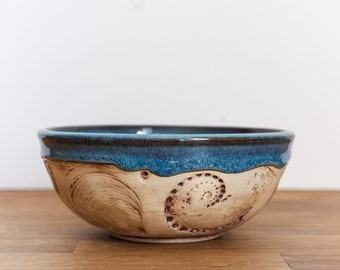Ceramic Soup Bowl - Cereal Bowl - Handmade blue bowl