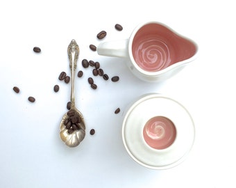 Sugar Bowl with Lid - Pink Sugar Bowl - Teal Sugar Bowl
