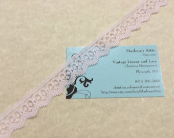 1 yard of 3/4 inch Light Pink Chantilly Lace trim for baby girl, bridal, wedding, baby, lingerie by MarlenesAttic - Item 8JJ