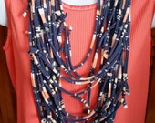 Recycled T Shirt Knotted Scarf Necklace