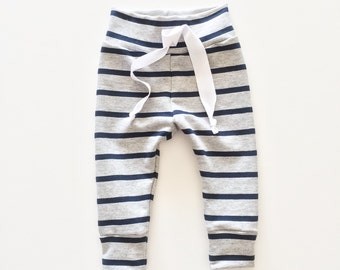 Navy Stripe Baby Joggers, Baby Jogger Pants, Baby Boy Leggings, Baby Leggings, Baby Pants, Toddler Leggings, Hipster Baby Clothes